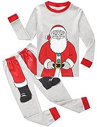 Christmas Bear Little Boys Girls Child Pajamas Sets 100%...