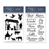 Nativity Silhouettes & Christ is Born Clear Stamps - Christmas Stamps | Clear Rubber Stamps | Photopolymer Stamps | Stamps Christian