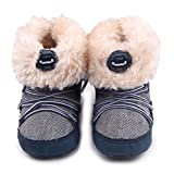 Milanao Premium Soft Wool Snow Boots Winter Cute Crib Shoes For Boys and Girls