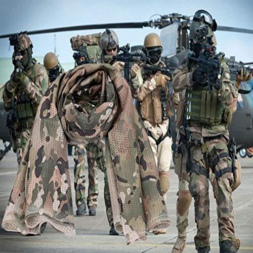YAOBAO Filet De Camouflage, Filet Tactique en Filet Camo Écharpe Sniper Voile, Camouflez Votre Cou, Votre Visage Et… 2