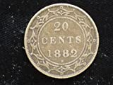 1882-H Newfoundland Silver 20 Cent Piece -- Very Good/Fine