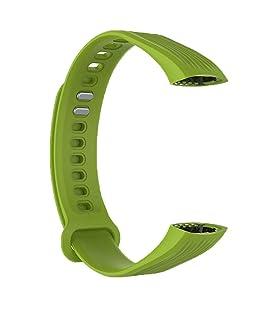 DNelo Correa Múltiple Sustitución de Color Inteligente Reloj de Silicona para Huawei Honor Band 3 - Verde