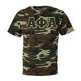 Alpha Phi Alpha Fraternity Greek Lettered Men's Camouflage T-Shirt Medium