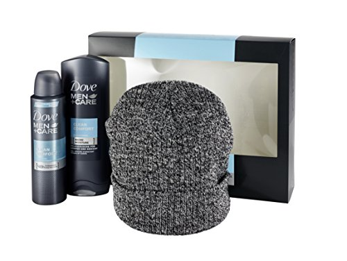 Dove Men+Care Geschenkset Clean Comfort mit Mütze, 1er Pack