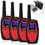 Befove Walkie Talkies Long Range Rechargeable Battery Charger 22 Channel Two Way Radios Handheld 4 Pack Walkie Talkies for Kids Adult Festival Gifts