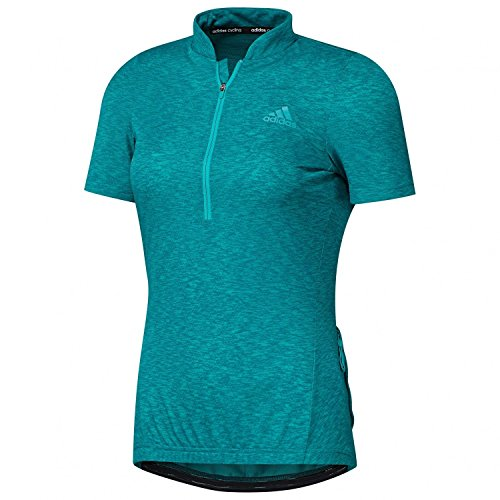 adidas Women's Cycling Jersey Short Sleeve Response Turquoise - Outlet Cycling Jersey
