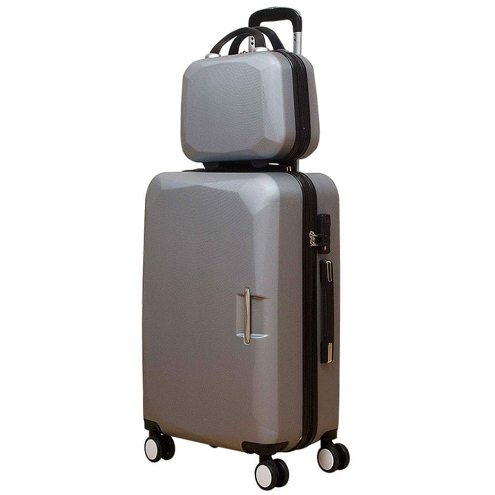 JINPENGRAN トラベルケース 大容量スーツケース ポータブル荷物用 純アルミ 回転式プーリー 2個セット 22 グレー 880-391 B07GZSMM69 グレー 22