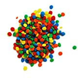 Dress My Cupcake DMC27292 Decorating Edible Cake and Cookie Confetti Sprinkles, Bright Primary Colors Sequins Confetti, 2.8-Ounce