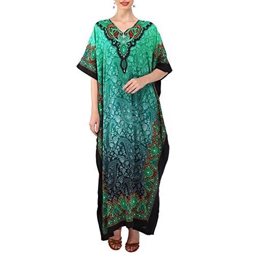 Kimono Ropa Camisón De Túnica Dormir Mujer Noche Kaftán Vestido CeWrxdBo