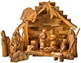 Earthwood Olive Wood Nativity Set with Modern Figures