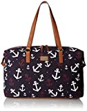 Tommy Hilfiger Women's Weekender Bag Canvas, Navy/White