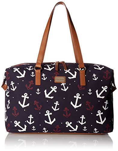 Tommy Hilfiger Women's Weekender Bag Canvas, Navy/White by Tommy Hilfiger