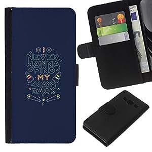 Volver Encuentra Inspirational Quotes- la tarjeta de Crédito Slots PU Funda de cuero Monedero caso cubierta de piel Para Samsung Galaxy A3