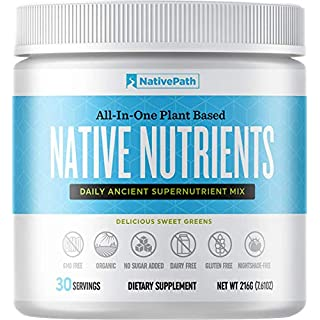 Native Nutrients - Superfood Powder - 7.61 Oz - 30-Day Supply - 21 Superfoods, Superfruits, and Nutrients - Plant-Based Organic Formula - Thyroid and Metabolism Support