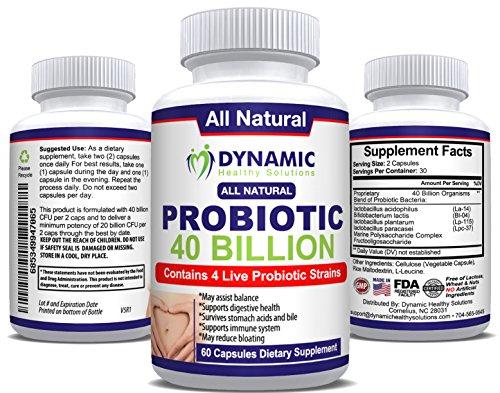 Probiotic 4 Strain Blend - Lactobacillus Acidophilus La-14, Plantarum Lp-115, and Paracasei Lpc-37 with Bifidobacterium Lactis Bl-04 - 60 Capsules