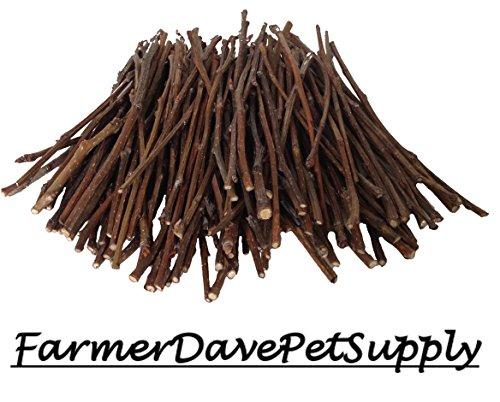 FarmerDavePetSupply 100 Pear Ultra Skinny Chew Twigs for Small Animals