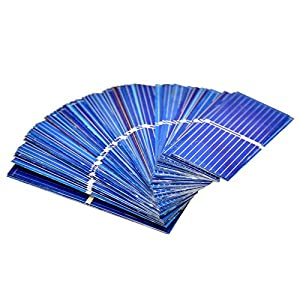 51nclTjgzHL. SS300  - Aoshike 100pcs 0.5 V Micro mini Solar cell for solar panel 52 x 19mm/2 x 3/4 inches Polycrystalline Silicon Photovoltaic Solar Cells Sun power for DIY Cell Phone Charger