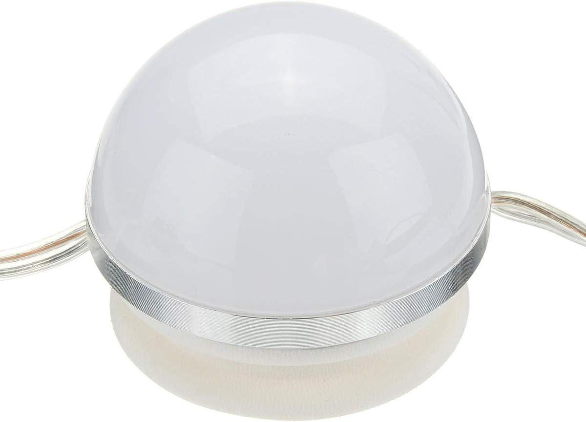 Elegdy 12Bulbs 4M White Hollywood Style LED Vanity Mirror Lights Kit EU Adapter+Dimmer DC12V