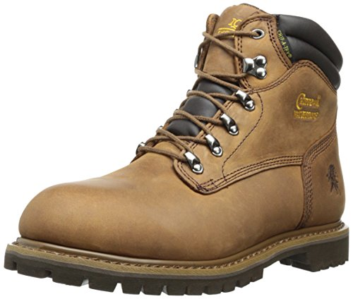 Chippewa Men's 6 Inch Waterproof Tough Bark Insulated Lace-Up Utility Boot,Brown,8 XW US