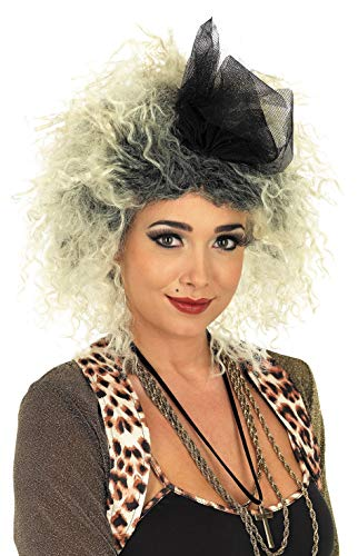 Womens 80s Pop Diva Wig Adults 1980s Singer Blonde Hair Costume ()