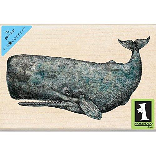 Inkadinkado Tim Coffey Wood Stamp, Sperm Whale by Inkadinkado