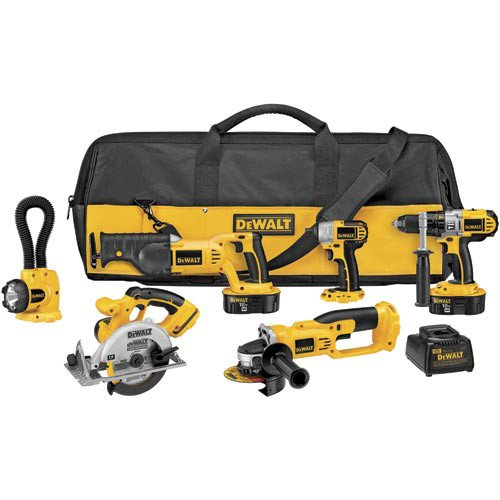 DEWALT DCK655X 18-Volt XRP 6 Tool Combo Kit with Impact Driver (Dewalt Power Tool Sets)