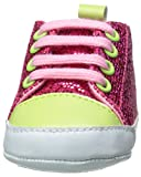 Luvable Friends Sparkly Sneaker (Infant), Pink with Pink Laces, 0-6 Months M US Infant