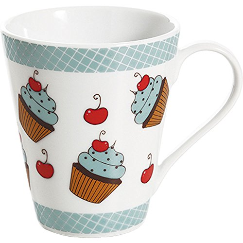 Caneca de Porcelana 300ml Bella Cupcake Copa & Cia