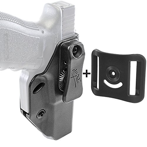 Orpaz Glock 26 Concealed Carry Holster for Glock 19, 17, 22, 23, 26, 27, 34 & More (IWB Holster+OWB Belt Attachment, Right Handed Holster)