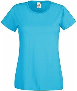 Fruit of the Loom Damen T-Shirt Valueweight T Lady-fit  Amazon.de ... 3d3452732e