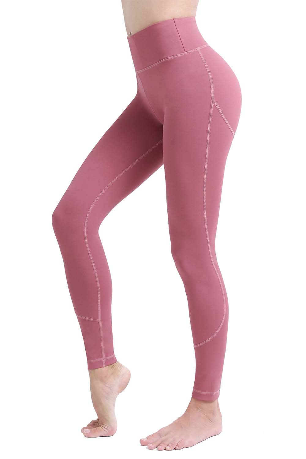 Soft High Waisted Yoga Leggings for Women,Spanx Tummy Control Leggings with Pockets,Athletic Running Workout Leggings Sports Gym