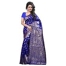 Indian Ethnic Zari Work Sari Women Fashion Sarees With Unstitched Blouse