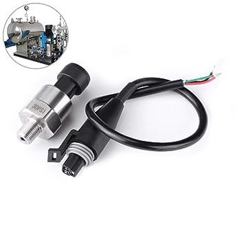 G1//4 Capteur de Transducteur de Pression Signal de Sortie Capteur Analogique dExactitude de lAcier Inoxydable 1/% FS pour le Gasoil 0-150PSI