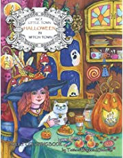 Nice Little Town - Halloween in Witch Town: Adult Coloring Book (Holiday funny pictures, Stress relieving designs)