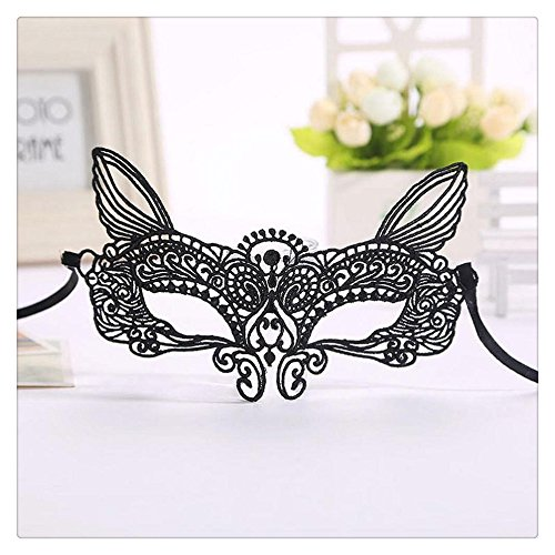 Halloween Costumes 2016 Catwoman (Party Eye Mask, FTXJ Halloween Masquerade Party Lady Black&White Catwoman Lace Mask (C))