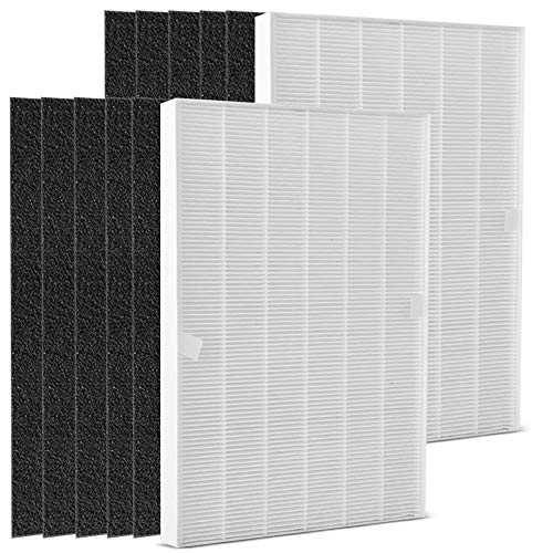 - DEKIRU Compatible with Winix Air Purifier for Home Filter 2 True HEPA Filter + 8 Carbon Replacement Filters A 115115 Fits for Winix Air Cleaner Purifier 5300 6300 5300-2 6300-2 P300 C535