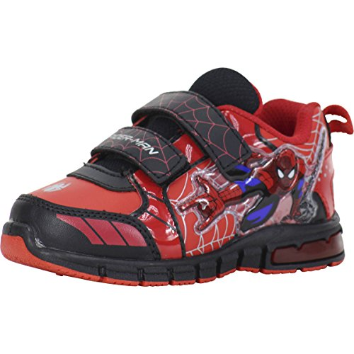 Ultimate Spiderman Toddler Boy's Light Up Red/Black Sneakers Shoes Sz: 7T -
