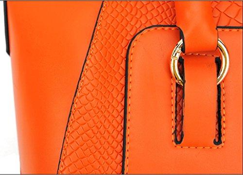 Messenger Moda Tote Naranja Bandolera Mujer Satchel Jinyouju Bolso ITnwTB