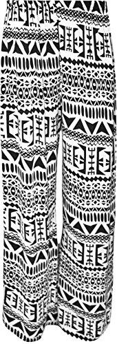 Grande Nouveau Imprimé De Taille Femmes Aztec Chocolate Black Pantalon Élastique Pantalons ® Palazzo Pickle Aztèque E8zwZI
