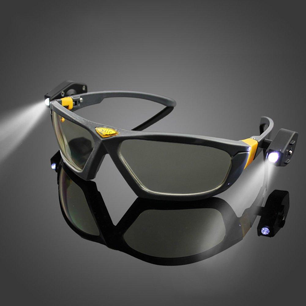 LED gafas de visió n nocturna gafas de seguridad Industrial Seguridad en el trabajo leer de noche al aire libre Ciclismo ojos Gafas Tong Yue