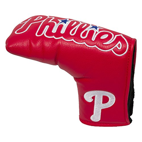 Team Golf MLB Philadelphia Phillies Golf Club Vintage Blade Putter Headcover, Form Fitting Design, Fits Scotty Cameron, Taylormade, Odyssey, Titleist, Ping, Callaway