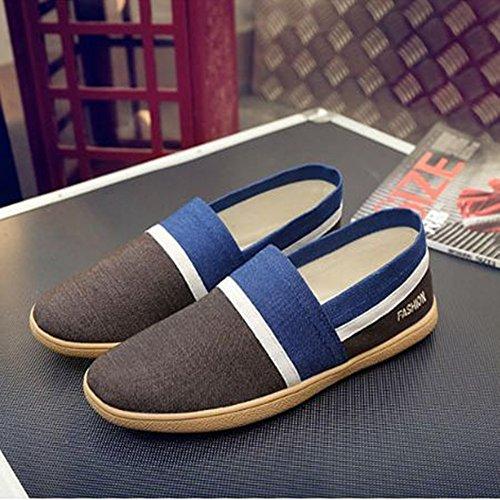 Vecchie estive Le Scarpe Classiche da Blu da Stoffa Scarpe Uomo da Barca Scarpe Mocassini di da Casual Uomo Passeggio di Pechino 0AwqwPf
