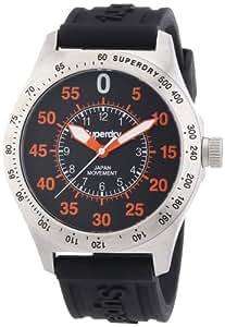 Superdry SYG111E - Reloj analógico de cuarzo para hombre, correa de silicona color negro