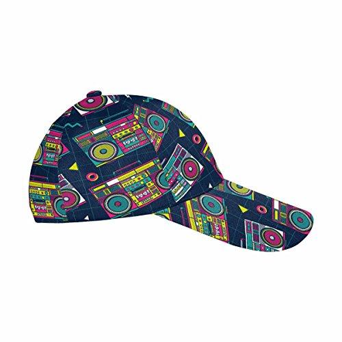 InterestPrint Unisex Dad Hat Adjustable Printed Baseball Cap Pop Eighties Boombox Radio 80's Background