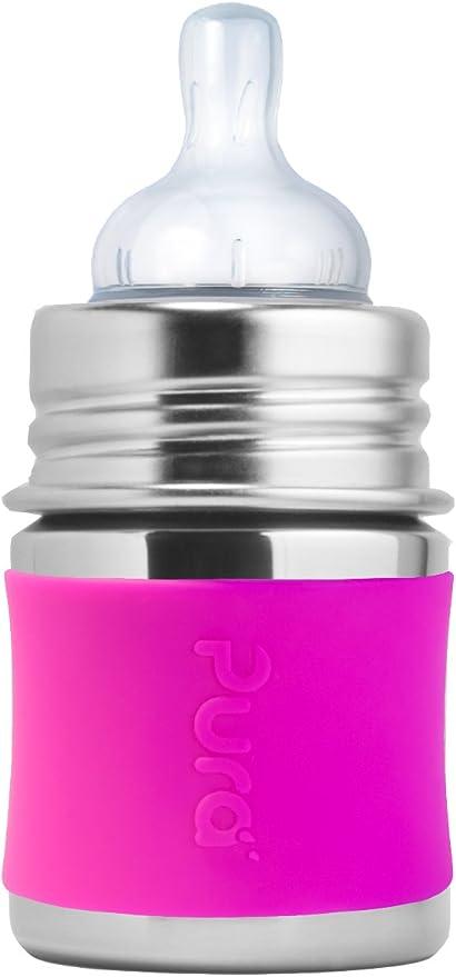 rosa 150 ml Pura Kiki Funda de silicona para biber/ón