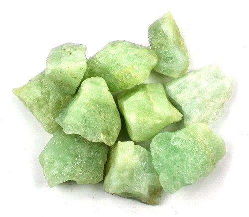 "Crystal Allies Materials: 1lb Bulk Rough Aquamarine Beryl Stones from Brazil - Large 1"" Raw Natural Crystals for Cabbing, Cutting, Lapidary, Tumbling, and Polishing & Reiki Crystal HealingWholesale Lot"