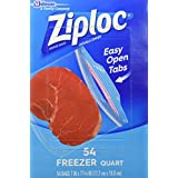 Ziploc Quart Freezer Bags - 54-Count