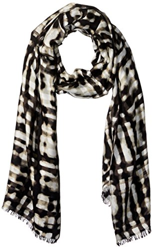 Calvin Klein Women's Abstract Plaid Twill Scarf