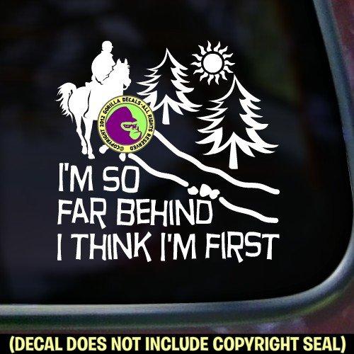 Endurance SO FAR BEHIND .. Funny Vinyl Decal Sticker E