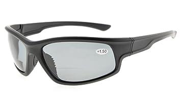 Eyekepper Polycarbonat Polarisierte Sonnenbrille Männer, Schwarzer Rahmen Grauer Linse